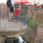 Saarburg waterval in centrum